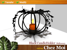 Halloween Black CandleHolder ♥ NEW Chez Moi