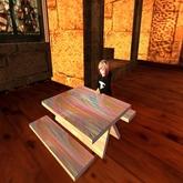 Rainbow Wood Table for Kid Avi's