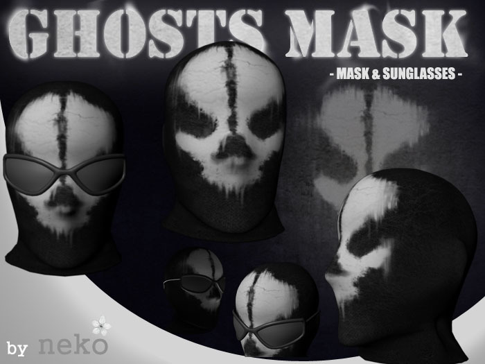 Second Life Marketplace Cod Ghosts Inspired Mask