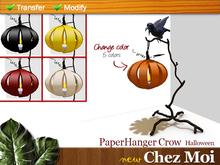 Halloween PaperHanger Crow ♥ NEW Chez Moi