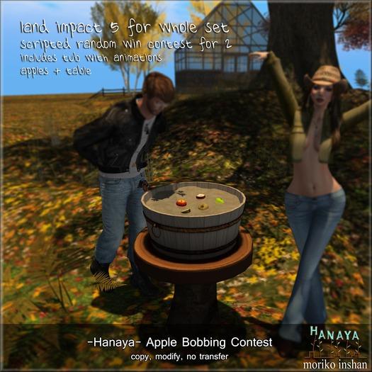 -Hanaya- Apple Bobbing Contest for 2 [mesh]