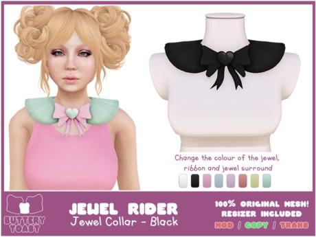 .:Buttery Toast:. Jewel Rider - Black - ORIGINAL