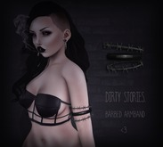 .DirtyStories. Barbed Armband.