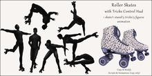 AvaBoy - Roller Skates with Tricks Control Hud BLUE
