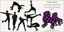 AvaBoy - Roller Skates with Tricks Control Hud PINK