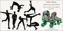 AvaBoy - Roller Skates with Tricks Control Hud GREEN