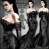 ~Black Arts~Belladonna Leather Gown Rigged Mesh
