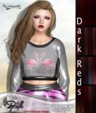 *~*Damselfly*~*Brielle Rigged-Mesh Dark Reds