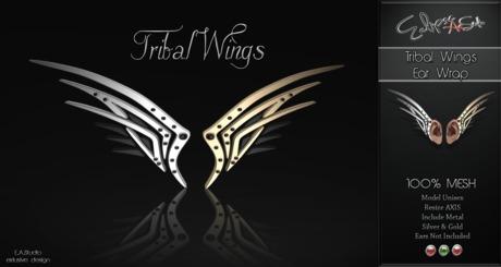 Ear Wrap Tribal Wings