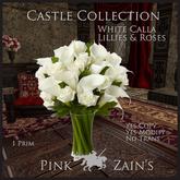 White Calla Lillies & Roses