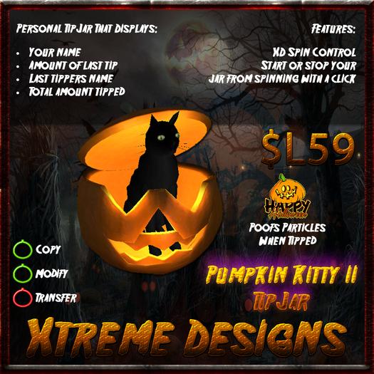 Pumpkin N Kitty TipJar II - Halloween