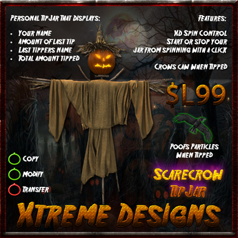 Scarecrow TipJar - Halloween