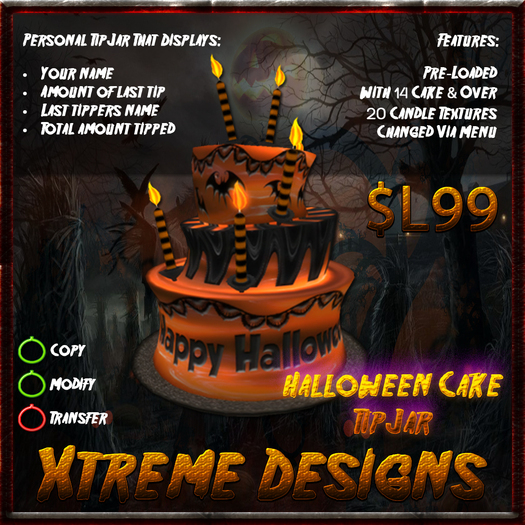 Halloween Cake TipJar