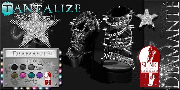 :Diamante: Tanatalize - High Feet - Rigged