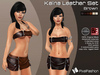 :)(: Kaina Leather set  ( Mini Skirt & Top) - Mesh - Brown  ( Classic Avatars + EVE Avatars )