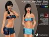:)(: Kaina Leather set ( Mini Skirt & Top) - Mesh - Blue & green  ( Classic Avatars + EVE Avatars )