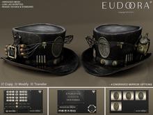 Eudora 3D Steampunk Dynamite Hat Black / Copy / Boxed