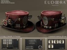Eudora 3D Steampunk Dynamite Hat Bordeaux / Copy / Boxed
