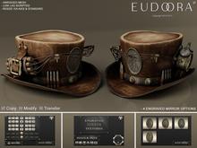 Eudora 3D Steampunk Dynamite Hat Brown / Copy / Boxed
