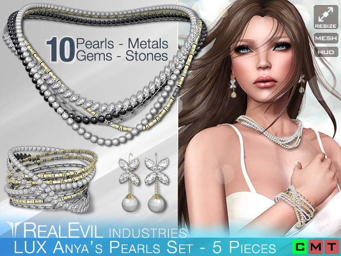 **RE** LUX Anya's Pearls Set * MESH * (**LUX** Collection)