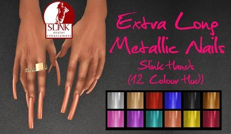 IAF Extra Long Metallic Nails (Slink Hands) (Elegant)