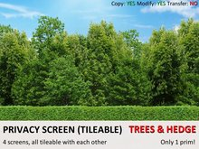 *DQ* PRIVACY SCREENS - FOREST & HEDGE 1 (COPY/MOD/TILEABLE)