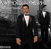 sf design mesh godfather tuxedo mens with shoes