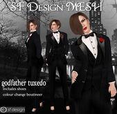 sf design mesh godfather tuxedo womens