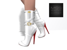 ~~ Introductory Promo Price ~~ *Me Sew Sexy* White Half Calf Boots