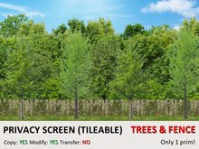 *DQ* PRIVACY SCREENS - FOREST & FENCE (COPY/MOD/TILEABLE)