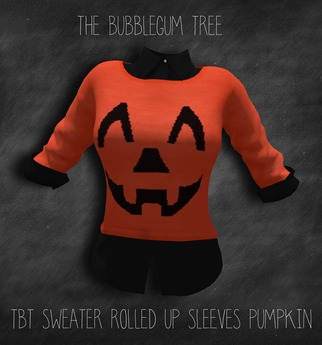 TBT Sweater Rolled Up Sleeves pumpkin