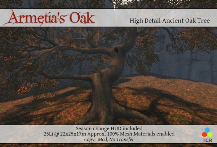 Armetia's Oak 100% Mesh Oak Tree with Materials *NEW FALL 14*