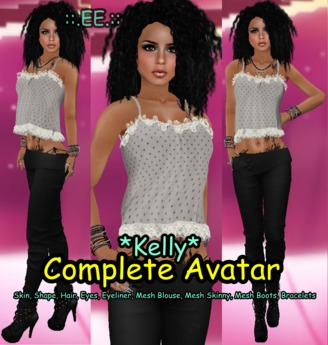 ::.EE.:: Complete Avatar *Kelly* (Incl. Mesh Outfit&Boots)