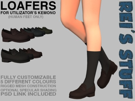 Rei's Stuff - Loafers for Kemono Humanfeet