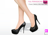%50WINTERSALE Full Perm Mesh Ladies Classic Stilettos With Mesh Feet (Web Based Skin Match System)