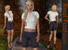 REAL FASHION Knitted top and shorts set