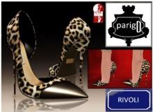 parigO - RIVOLI BROWN LEOPARD - SLINK HIGH ONLY - SHOES STILETTOES HEELS MESH SEXY _ FASHION