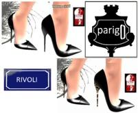 DEMO parigO - RIVOLI BLACK and BLACK LEOPARD SOLE - SLINK HIGH ONLY mesh