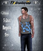 :::OTC:::028 - T-Shirt Regata   Star Black MESH