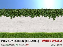 *DQ* PRIVACY SCREENS - WHITE WALL 2 (COPY/MOD/TILEABLE)
