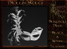 NSP Moulin Rouge Burlesque Mask (Mardi Gras V1) boxed