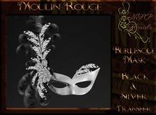 NSP Moulin Rouge Burlesque Mask (Mardi Gras V1) boxed