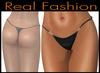 "String mesh panties ""Black leather"""
