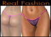 "String mesh panties ""Fuchsia glitter"""