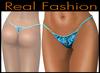 """String mesh panties """"Animal print blue"""""""