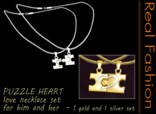 REAL FASHION - Love puzzle necklace for him and her