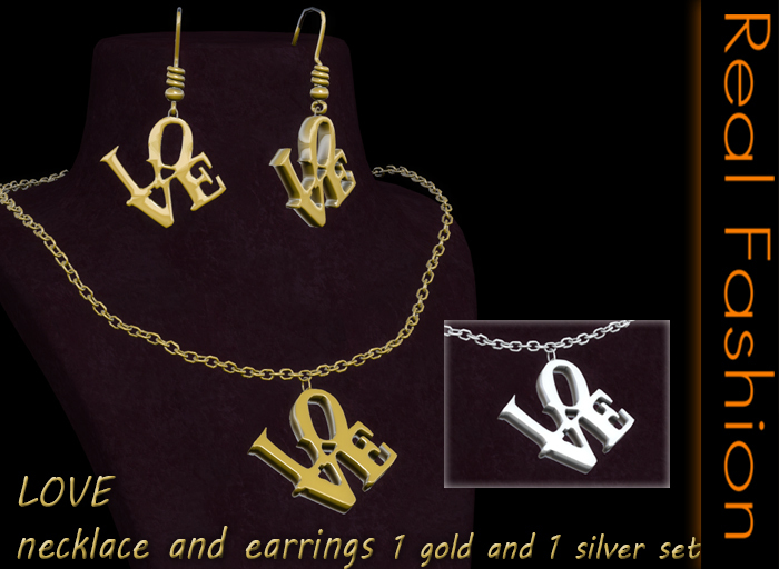 REAL FASHION - Love necklace and earrings