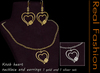 REAL FASHION - Heart knob necklace and earrings