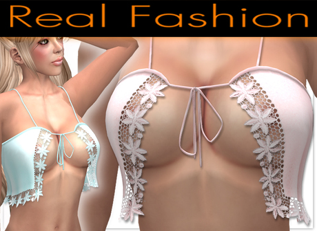 """Sexy top """"flirty"""" pink and light blue lace set - Mesh rigged"""