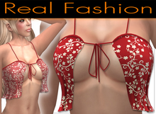 """Sexy top """"flirty"""" red floral set - Mesh rigged"""